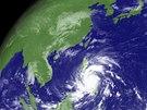 Tajfun Haiyan na snímku Japonské meteorologické agentury je zatím letošní