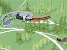 Vizualizace budoucí podoby termálního balneoparku ve Velkých Losinách