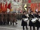 Z přehlídky na frontu. Rusové si připomněli obranu Moskvy