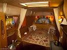 Obytná dodávka Pegas. Interiér Pegase a naše spaní na pohankových matracích.