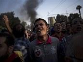 Stoupenci egyptského prezidenta Mursího demonstrují v Káhiře (3. listopadu 2013)