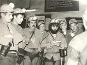 Miroslav Sehnal (s plnovousem) v roce 1986, kdy se skrýval před zájmem StB.