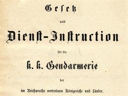 Zákon a služební instrukce z roku 1876.