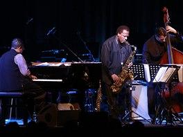Wayne Shorter Quartet v Lucerně, 6. 11. 2013 (zleva Danilo Pérez, Wayne