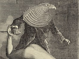 Ukázka ze surrealistického komiksu Maxe Ernsta Týden laskavosti