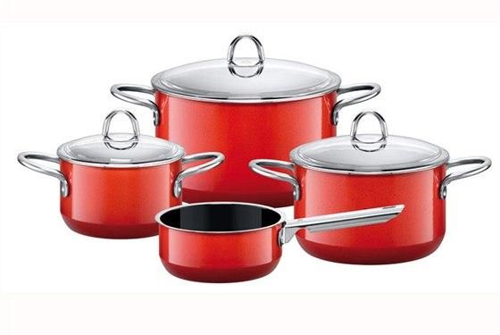Set čtyř hrnců Silit (Red) v ceně 9 299 Kč