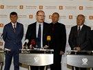 Tisková konference po jednání ANO a ČSSD (17. listopadu 2013)