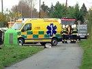 Složky IZS zasahují v Dobřichovicích, kde mladý muž zemřel v kontejneru na...