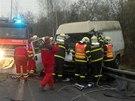 Celkov� pohled na m�sto v�n� dopravn� nehody mezi Karvinou a �esk�m T��nem.