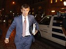 Šéf hnutí ANO Andrej Babiš při příchodu na jednání s ČSSD do Lidového domu.