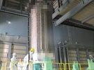 Jeden ze dvou kontejner�, kter� se budou pro p�epravu palivov�ch �l�nk�...