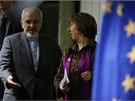 Íránský ministr zahraničí Mohammad Džavád Zaríf se šéfkou evropské diplomacie