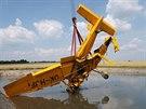 Trosky práškovacího letadla na Jičínsku