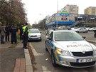 Policisté vozidlo dostihli v pražských Kobylisích.