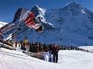 Závody Světového poháru v Lauberhorn se těší v lyžařském světě obrovskému...