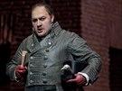 George Ganidze jako Scarpia z představení Tosca v podání Metropolitní opery.