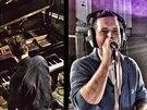 Android Asteroid p�i nahr�v�n� v Abbey Road Studios.