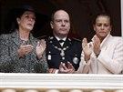 Monack� princezna Caroline, monack� kn�e Albert II. a monack� princezna...