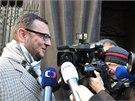 Petr Nečas před výslechem. (14. 11. 2013)