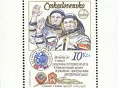 Zn�mka s kosmonauty A. Gubarevem a Vladim�rem Remkem.