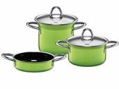 Sada tří hrnců Minimax - nádobí Silit (Lemon green) v ceně 5 399 Kč -