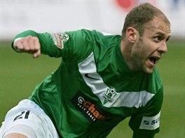 Michal Hubník z Jablonce se raduje z gólu.
