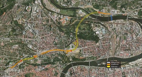 Trasa tunelov�ho komplexu Blanka m��� �est a p�l kilometru