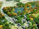 Takhle by v budoucnu mohlo vypadat území lesoparku Benátky a okolí. Vzniknout