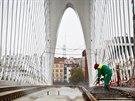 Nově budovaný Trojský most, u něhož bude ústit jeden z výjezdů z tunelu Blanka