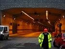 Jeden z vjezd� do tunelov�ho komplexu Blanka v pra�sk� Troji
