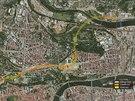 Trasa tunelového komplexu Blanka měří šest a půl kilometru