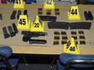 Zbraně, které policie zadržela u Adama Lanzy.