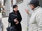 Místopředsedkyně ANO Věra Jourová přichází na jednání s ČSSD v Průhonicích....