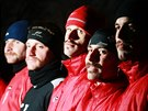 Pardubičtí fotbalisté běžně kníry nenosí. Ale charitativní projekt Movember...