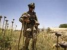 Americk� voj�k Matt Krumwiede nasazen� v Afgh�nist�nu loni v �ervnu �l�pl na...