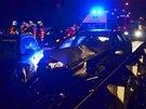 Na Rudné ulici v Ostravě se během dvou hodin stalo osm nehod. (24. listopadu