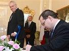 Prezident Milo� Zeman jmenoval Radovana Such�nka �stavn�m soudcem (26....
