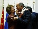 Íránský ministr zahraničí a šéfka evropské diplomacie Catherine Ashtonová.