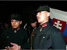 Archivní snímky zobrazují některé z akcí Kotlebovy strany Národní pospolitost.