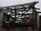 Následky tajfunu Haiyan ve filipínském Guiuanu. (24. listopadu 2013)