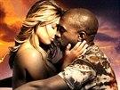 Kanye West se snoubenkou Kim Kardashianovou v klipu Bound 2