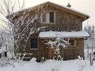 Ani -20°C neznamená pro slaměný dům problém.