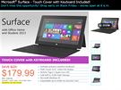 Bezkonkurenční cena tabletu Surface RT v obchodu Micro Center.