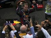 ABSOLUTNÍ VLÁDCE. Sebastian Vettel ovládl i Velkou cenu Brazílie a vyrovnal