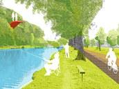 Rybník s možností rybolovu. To by mělo být jedno z lákadel proměněných Benátek.