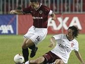 Sparta - Arsenal: Horváth (vlevo), Rosický