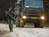 Čeští vojáci během cvičení Sabre Junction II v německém Hohenfelsu