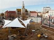 Rekonstrukce náměstí 28. října (13.11. 2013).