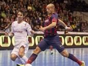 Momentka z utkání Chrudim - Barcelona.