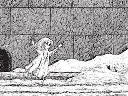 Edward Gorey: Nebohé dítě (z knihy Čerstvě deflorovaná dívka a jiné příběhy)